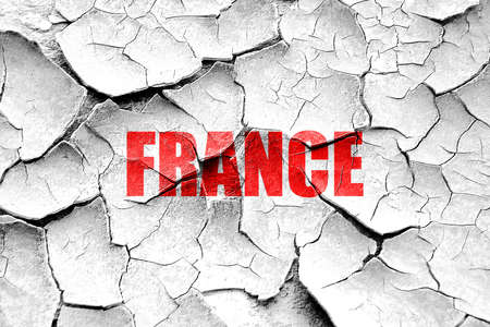 french culture: Grunge cracked Greetings from france card with some soft highlights
