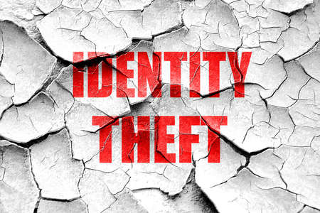 scammer: Grunge cracked Identity fraud background with some smooth lines Stock Photo