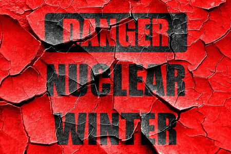 chemical warfare: Grunge cracked Nuclear danger background on a grunge background