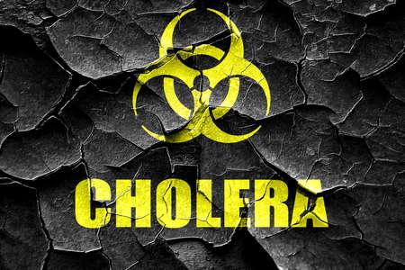 colera: Grunge agrietada del fondo del concepto c�lera con unas l�neas suaves suaves Foto de archivo