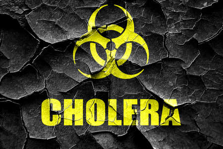 cholera: Grunge cracked Cholera concept background with some soft smooth lines Stock Photo