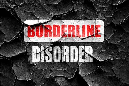 borderline: Grunge cracked Borderline sign background with some soft smooth lines