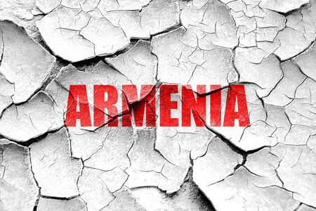 armenia: Grunge cracked Greetings from armenia card with some soft highlights
