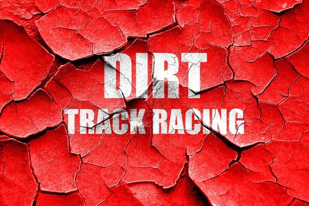 dirt track: Grunge cracked dirt track racing with some soft smooth lines Stock Photo