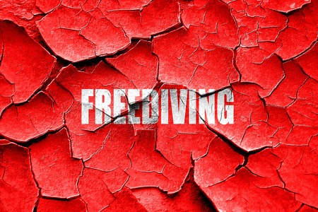 Grunge cracked freediving sign background with some soft smooth lines Imagens