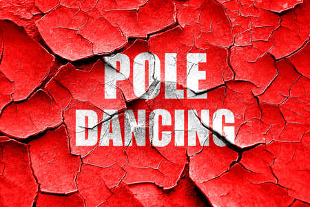 pole dancing: Grunge cracked pole dancing sign background with some soft smooth lines Stock Photo