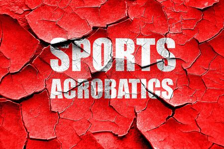 acrobatics: Grunge cracked sports acrobatics sign background with some soft smooth lines Stock Photo