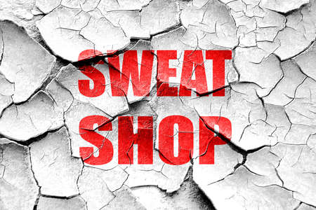 sweat: Grunge cracked Sweat shop background with some smooth lines Stock Photo