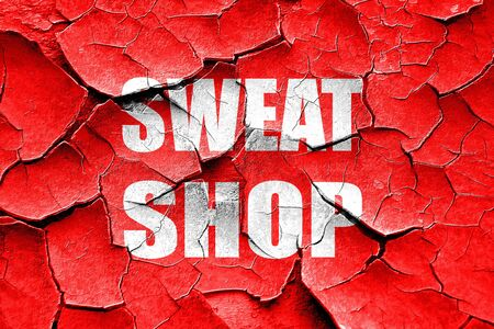labor market: Grunge cracked Sweat shop background with some smooth lines Stock Photo