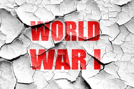 world war 1: Grunge cracked World war 1 background with some smooth lines Stock Photo