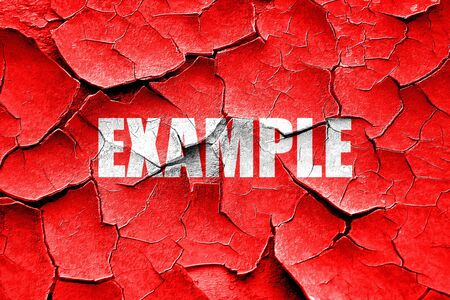 example: Grunge cracked example sign background with some soft smooth lines