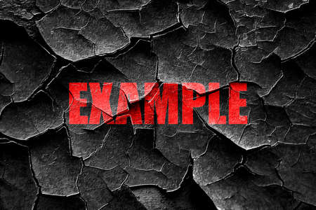 an example: Grunge cracked example sign background with some soft smooth lines