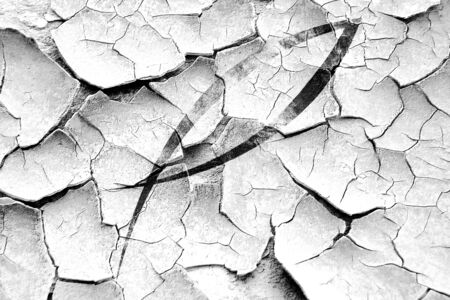 pez cristiano: Grunge quebr� el s�mbolo de los pescados con unas l�neas suaves suaves Foto de archivo