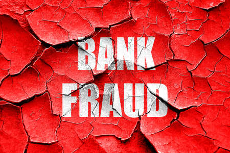 sneak: Grunge cracked Bank fraud background with some smooth lines Stock Photo