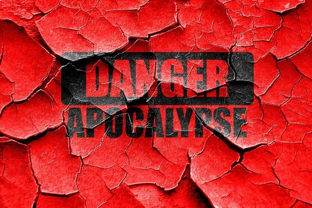 meltdown: Grunge cracked apocalypse danger background on a grunge background
