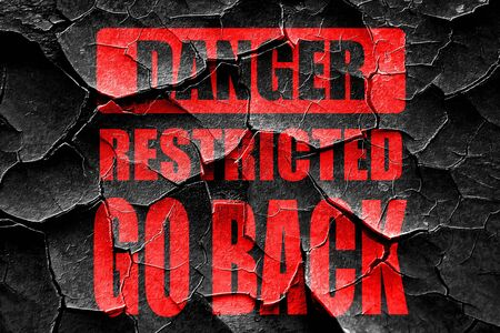 warning: Grunge cracked Go back sign with some smooth lines Stock Photo