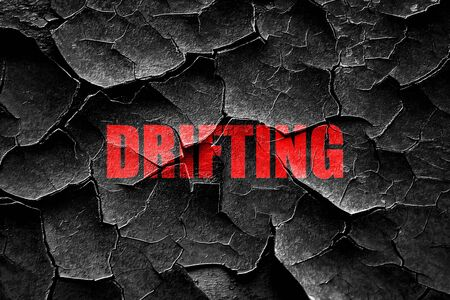 drifting: Grunge cracked drifting sign background with some soft smooth lines Stock Photo