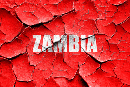zambia: Grunge cracked Greetings from zambia card with some soft highlights Stock Photo