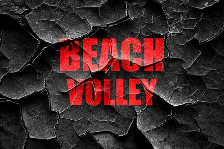 beach volley: Grunge cracked beach volley sign with some soft smooth lines