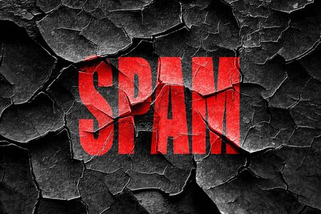 spamming: Grunge cracked Spamming background with smooth lines and highlights