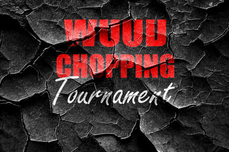 chopping: Grunge cracked wood chopping sign background with some smooth lines