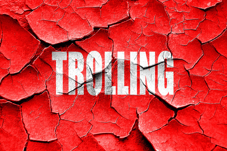 trolling: Grunge cracked Trolling internet background with some soft smooth lines Stock Photo