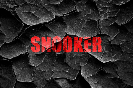 snooker: Grunge cracked snooker sign background with some soft smooth lines