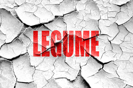 legume: Grunge cracked Delicious legume sign with some soft smooth lines