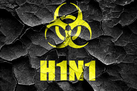 h1n1: Grunge cracked h1n1 virus concept background with some soft smooth lines