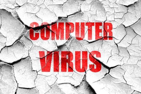adware: Grunge cracked Virus removal background with some soft smooth lines Stock Photo