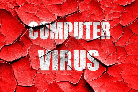 quarantine: Grunge cracked Virus removal background with some soft smooth lines Stock Photo
