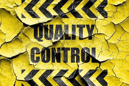 hazard sign: Grunge cracked Quality control background with some soft smooth lines