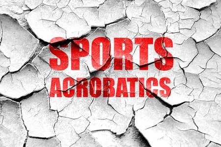 acrobatics: Grunge cracked sports acrobatics sign background with some soft smooth lines Foto de archivo