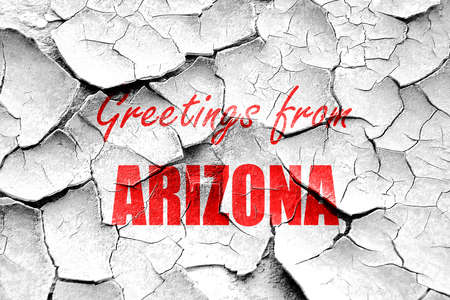 arizona: Grunge cracked Greetings from arizona wit some smooth lines Stock Photo