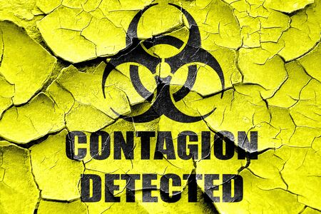 contagion: Grunge cracked contagion concept background with some soft smooth lines