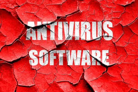 quarantine: Grunge cracked Malware removal background with some soft smooth lines