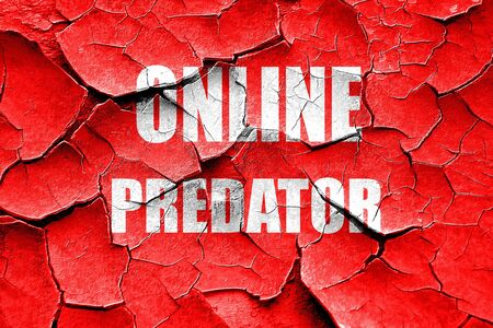 sexually: Grunge cracked online predator background with some smooth lines