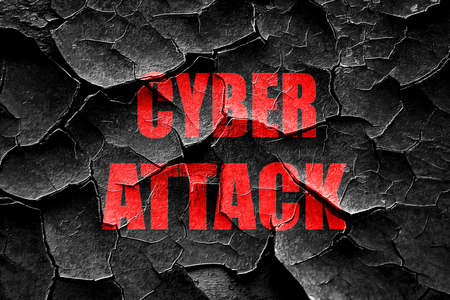 cyber defence: Grunge cracked Cyber warfare background with some smooth lines