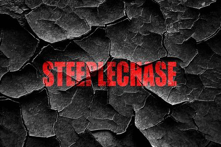 steeple: Grunge cracked Steeplechase sign background with some soft smooth lines