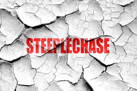 steeplechase: Grunge cracked Steeplechase sign background with some soft smooth lines