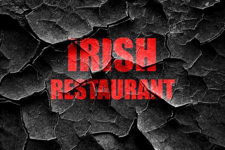 irish pub label design: Grunge cracked Delicious irish cuisine with some smooth lines