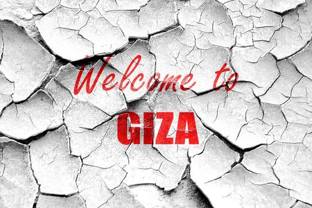 giza: Grunge cracked Welcome to giza  with some soft smooth lines
