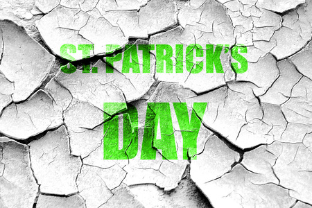 patric background: Grunge cracked St patricks day background with some smooth lines