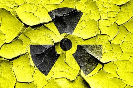 meltdown: Grunge cracked Nuclear danger background on a grunge background