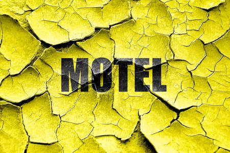 vacant sign: Grunge cracked Vacancy sign for motel with some soft glowing highlights