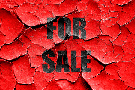 for sale sign: Grunge cracked For sale sign with some smooth lines