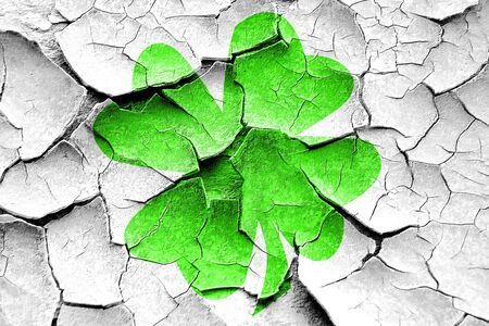 patric day: Grunge cracked St patricks day background with some smooth lines