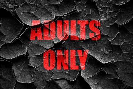 adults only: Grunge cracked adults only sign with some vivid colors Stock Photo