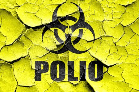 polio: Grunge cracked Polio concept background with some soft smooth lines