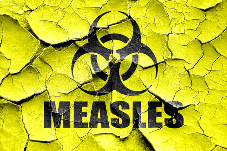 measles: Grunge cracked measles concept background with some soft smooth lines